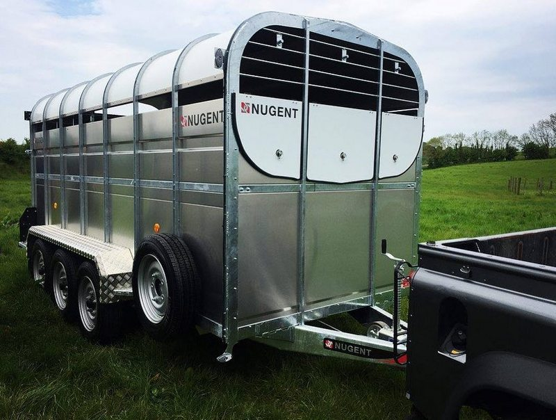 NUGENT LIVESTOCK TRAILERS @ ONLY €17.99 PER WEEK